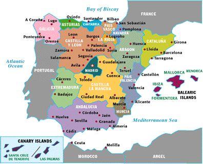 Spanyol Tartomanyok Terkep Marlpoint